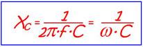 Емкостное сопротивление конденсатора