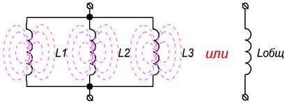 Параллельное соединение катушек
