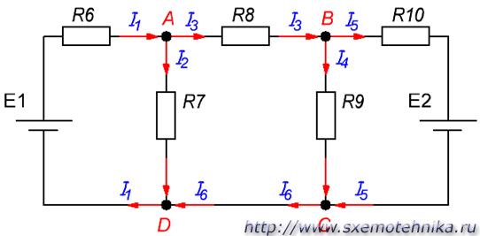электрическая цепь рисунок: