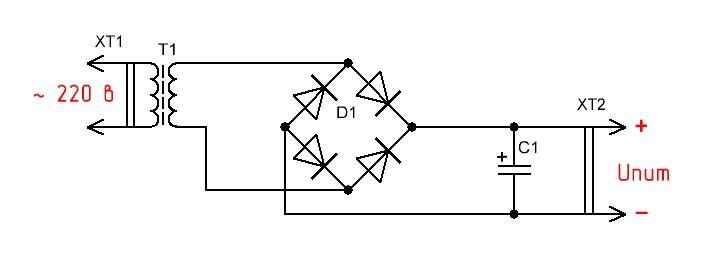 Схема простейшего блока